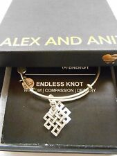 Alex and Ani ENDLESS KNOT Expandable Wire Bracelet Rafaelian Silver NWTBC