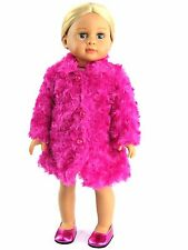 Hot Pink Fur Coat Doll Clothes Fits 18 Inch American Girl
