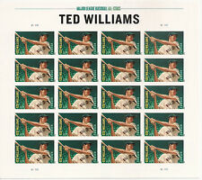 US 4694a MLB Ted Williams imperf NDC sheet MNH 2012