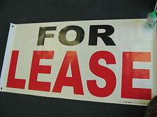 FOR LEASE Banner Sign NEW Store Real Estate Space Apartment Building Commercial