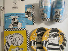 COPS and ROBBERS -  Birthday Party Supplies Set Pack w/ Invitations