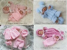 "BABYDOLL HANDKNIT DESIGNS *FOUR* KNITTING PATTERNS 4-7"" DOLLS OR OOAK SCULPTS"