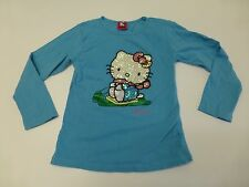 Hello Kitty Sequin Youth Girls Size 2XL (6X) Blue Shirt Good Condition