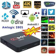 Smart TV Box Android 6.0  SM2 S905X Quad-core kodi 16.1 Fully Loaded 4k 3D wifi