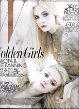 W MAGAZINE DECEMBER 2011 DAKOTA & ELLE FANNING (VG)