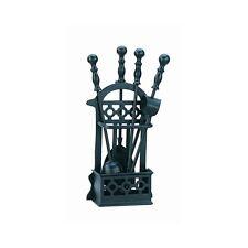 Victorian Basket Style Companion Set- For Logs & Coal Fires- 41cm Black