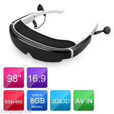 "Portable Virtual Reality HD 98"" 1080P Side by Side 2/3D Video Glasses VR Eyewear"