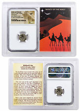 Indo-Scythians Silver Drachm of Azes I/II 35-12 BC NGC VF Story Vault SKU45360
