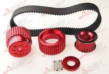 "12A 13B 20B 15mm RX7 FD FC RX3 Gilmer Drive Pulley Kit 1.5"" Notch Belt Red"