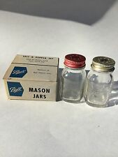 BALL PERFECT MASON SALT AND PEPPER SET JARS W/ORIGNAL BOX NEVER USED !
