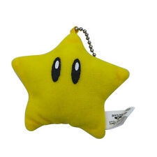Super Mario Star Key Chain Soft Plush Toy