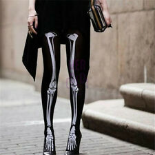 New Warm Girls Punk Rock Ghost Skeleton Bone X Ray Pantyhose Tights Party Club