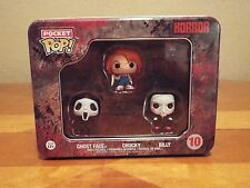 Funko Horror Pocket POP Figure Set of 3 Ghostface Scream Saw Billy Chucky #10