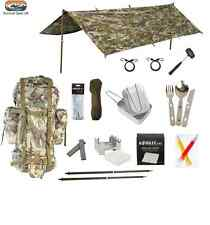 BTP MILITARY SURVIVAL BUSHCRAFT CAMPING PREPPER CADET BUNDLE BASHA BIVI BUG OUT