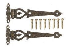 Antique Style Large Hinges ( Style 4 ) Dolls House Miniature Hinges, Fairy Door