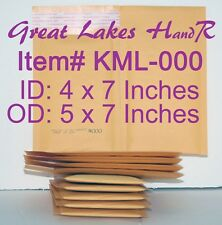 "104 (100+4) Self-Sealing Kraft Bubble Cushioned Env Mailers, KML-000 OD: 5"" x 7"""