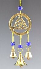 "9"" Brass TRIQUETRA Wind Chime Wicca  FREE SHIP Windchime Feng Shui Bell TRIQUETA"
