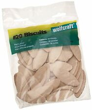 50 Pack Wolfcraft #20 Compressed Wafer Shaped Wood Biscuits Joining Wood Pieces