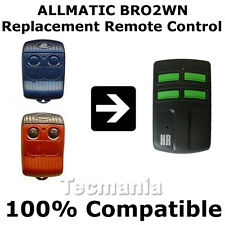ALLMATIC B.RO1/2/4WN Red Replacement Remote Control Garage Gate Fob New