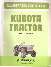 Kubota L225DT Tractor Illustrated Parts Manual