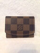 LOUIS VUITTON Damier Canvas Cuff Link Earring Case - NEW!