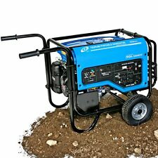 Tsurumi 6800 Watt Industrial Generator w/Electric Start and Wheel Kit 23359