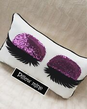 Purple Sequin Eyelashes Pillow Eyelash Extension Salon Decor Makeup Artist Gift