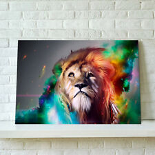 READY TO HANG Framed Canvas Animal Prints Modern Wall Art Picture Poster Lion