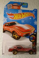 SNOWFLAKE CARD - 2016 HOT WHEELS CORVETTE STINGRAY #58 - HW MILD TO WILD 3/10