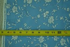 """By-the-Half-Yard, 43"""", White on Med-Blue Quilter's Cotton, Blank Quilting, M5316"""