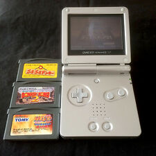 Excellent! Working! Nintendo Game Boy Advance SP Silver + 4 Games Japan AGS-001