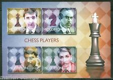 SOLOMON ISLANDS 2014 CHESS PLAYERS KRAMNIK KASPAROV ANAND FISCHER  SHEET MINT NH