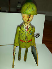 G. J. Joe and the K-9 Pups Unique Art Mfg, 1940s Tin Litho Wind Up Toy