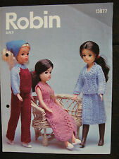 "Robin Knitting Pattern: Fashion Doll Outfits, 11.5"" Doll, 4ply, 13077"