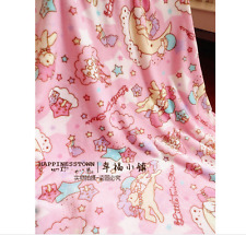 "Kawaii Bowknot Binary Star Blanket Bed Sheet Flannel Big 79"" x 79"" Cos Gift"