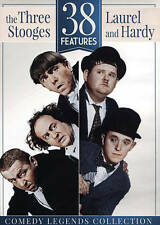 38 Features:The Three Stooges and Laurel Hardy(DVD,2015,2-Disc Set)same day ship