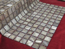 Mother Of Pearl Mosaic Tiles River Bed Nature Pearl Shell Mosaic Square Grey