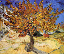 "The Mulberry Tree by Vincent Van Gogh, Canvas Print, 8.5""x10"""