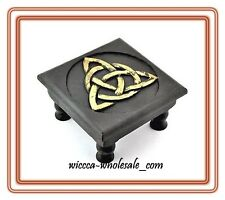Triquetra Altar Table Wooden FREE PRIORITY MAIL SHIPPING ~ Wicca Pagan Triqueta