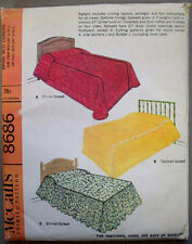 1960's Bed Spreads Coverlet bolster Dust ruffle  pattern 8686 size  unused