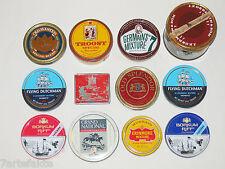 12 Tabakdosen, Pfeifentabak, Sammlung, Konvolut, leer, vorwiegend 80er-Jahre