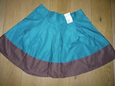 H&M jade green and brown skirt. size 12 (Eur 40)