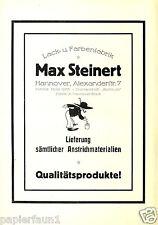 Farbenfabrik Steinert Hannover XL Reklame 1924 Maler Lackierer Zimmermann Ad