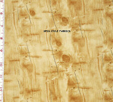 "1YD 33"" x 44"" Piece BIRCH BARK Woodgrain MOUNTAIN WOODS Tree Faux Bois Fabric"