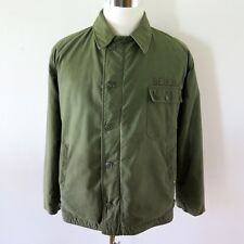 VINTAGE ORIGINAL A-2 A2 DECK JACKET COLD WEATHER 1975 LARGE VA-174 CECIL FIELD