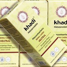 Khadi piante colore dei capelli senna cassia 100g Naturkosmetik certificata incolore bio