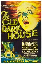 The old dark house Boris Karloff Horror movie poster print 2