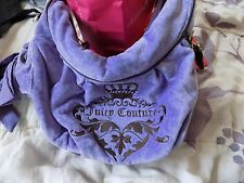 NWT-Juicy-Couture-ROYAL-Velour-Fluffy-Bag-PURPLE  NWT MSRP $198.00