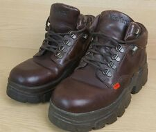 Kickers chunky brown boots Hi Size 7 Eur 41