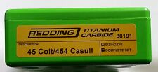 88191 REDDING 45 COLT / 454 CASULL TITANIUM CARBIDE 3-DIE SET - BRAND NEW